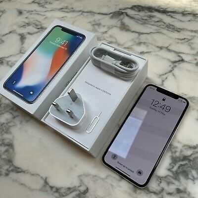Apple iPhone X 64GB Unlocked SIM-Free Smartphone – Silver [Excellent]