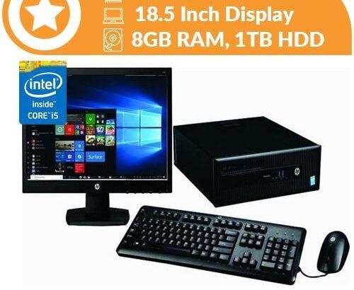 Hp Elitedesk 800 SFF Intel Corei5,8GB RAM,1TB Win10&Office