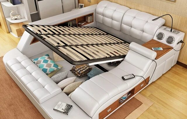 4433  leather bed with massage function white latest leather king multi function bed designs post mo
