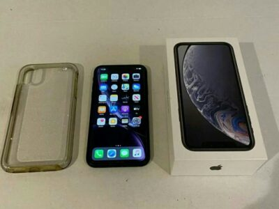 Used jetblack iPhone XR 128GB with box and accessories