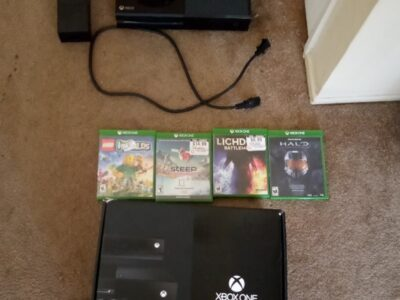 xbox new four games limited edition controller camera headphones etc