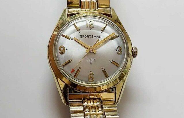 Vintage ELGIN SPORTSMAN 17 Gold Tone Men's Mechanical Hand Winding Watch