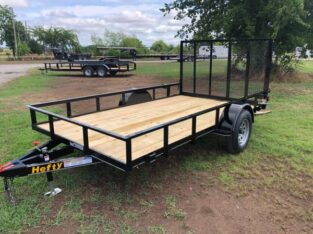 New 77×12 Flatbed Trailer with 4' ramp gat