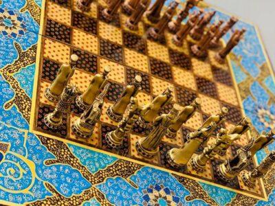 Vintage Backgammon & Chess board