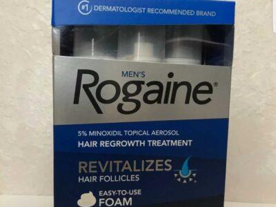 Men's Rogaine 5% Minoxidil Hair Regrowth Treatment Foam – 3 Months Supply – NEW!