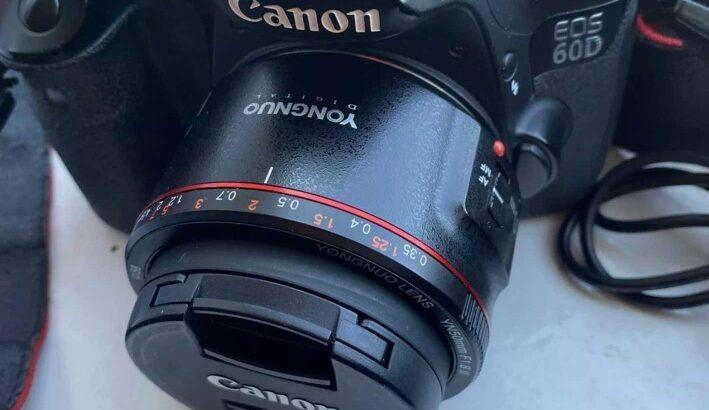 Canon EOS 60D 18.0MP Digital SLR Camera – Yongnuo 50mm F1.8 II Prime Lens 50k SC