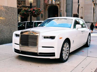Brand new white Rolls Royce Phantom
