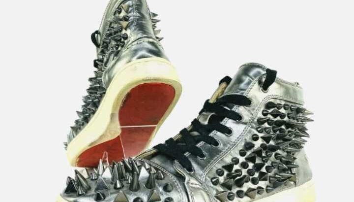 Christian Louboutin Sneakers Mens 43 US 10 Spike Stud High-Top Shoe Red Bottoms