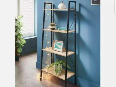 Michigan Ladder Shelving Unit 4 Tier Display Stand Book Shelf Wall Rack Storage