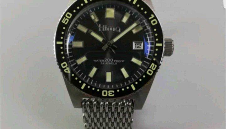 Sharkey NH35A 62MAS Diver Automatic Wristwatch MarineMaster Man Sapphire SS band