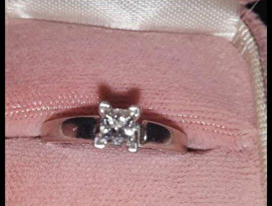 14kt gold and platinum diamond leo ring