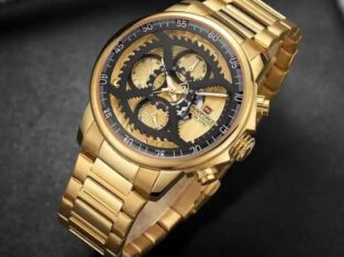 Golden brand new wrist watch