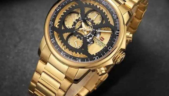 Golden brand new wrist watch