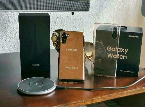 Samsung Galaxy Note 10 and Samsung watch