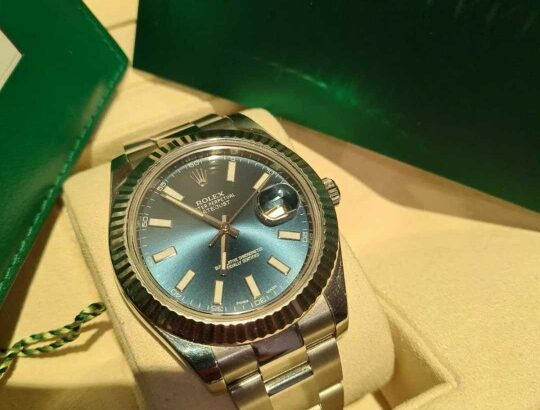 Rolex Datejust II  model 116334 Blue Dial mint condition year 2015