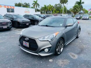 2013 HYUNDAI VELOSTER TURBO W/BLACK INT & ULTIMATE PACKAGE