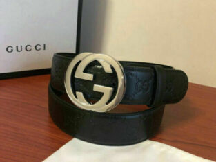 Gucci Signature Leather Belt With Black