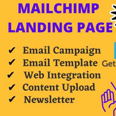 Setup a responsive Mailchimp Landing Page,Email Campaign,Newsletter and Automation