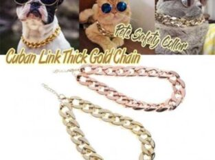 Cuban Thick Chunk Chain Necklace | Dog Safety Collar | Pets Jewelry