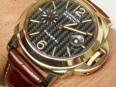 BEAUTIFUL SOLID 18k GOLD PANERAI LUMINOR 44 AUTOMA