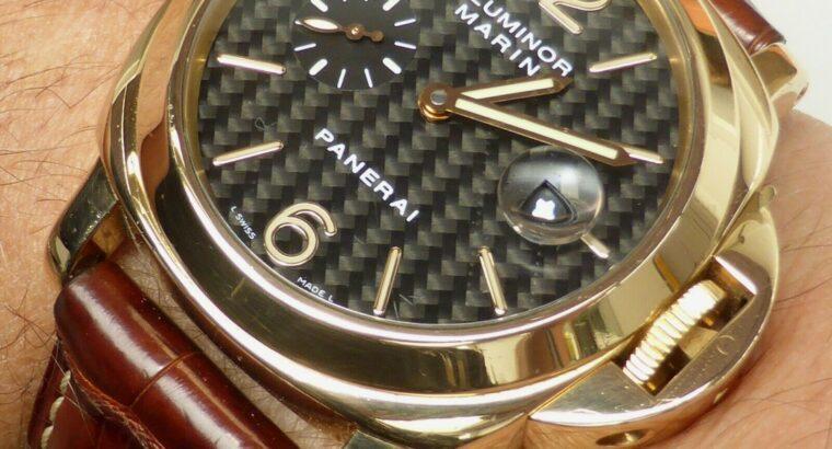 BEAUTIFUL SOLID 18k GOLD PANERAI LUMINOR 44 AUTOMA