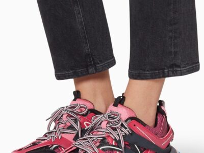 Balenciaga NEW TO SALE Pink Track Sneakers