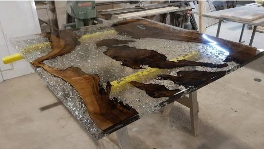 apoxy wood table