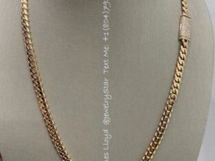 Miami Cuban Chain 14k Pure Gold