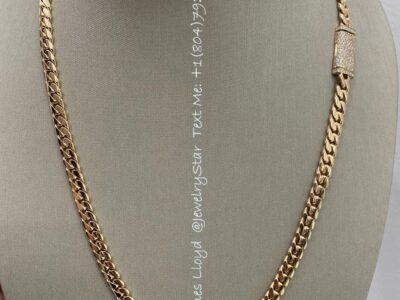 Miami Cuban Chain 14k Pure Gold