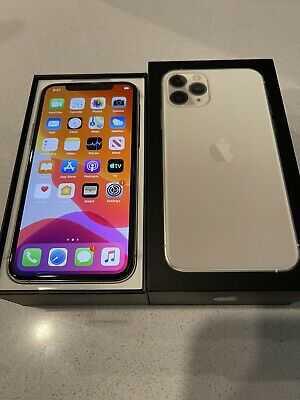 Apple iPhone 11 Pro Max – 500GB – Silver (Unlocked) A2161 (CDMA + GSM) brand new sealed