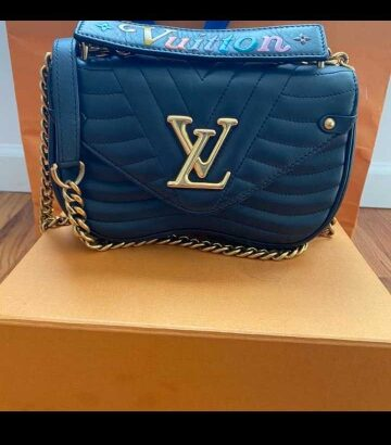 Louis Vuitton calfskin new wave black pm