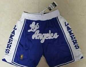 NBA los angeles lakers short blue