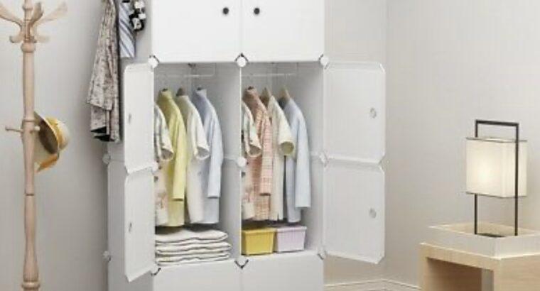 Portable Wardrobe Clothes Closet Plastic Dresser,