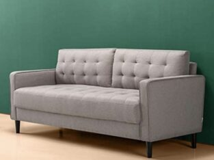 Sofa Couch / Grid Tufted Cushions / Easy, Tool-Fr