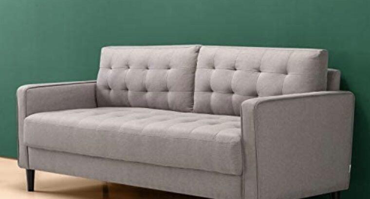 Sofa Couch / Grid Tufted Cushions / Easy, Tool-Fr