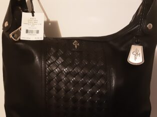 Cole Haan Hobo Avery Black Print Leather Purse New