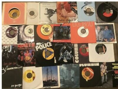 Lot of 70-80s Rock Pop Mix (16) NM Records 7″ Sing