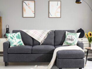 Shintenchi Convertible Sectional Sofa Couch, Moder