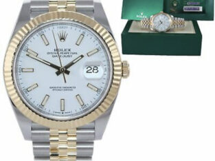 2021 PAPERS Rolex DateJust 41 126333 Two Tone Gold