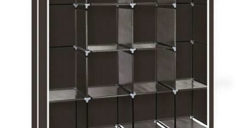 Portable Closet Wardrobe Clothes Rack Storage Spac