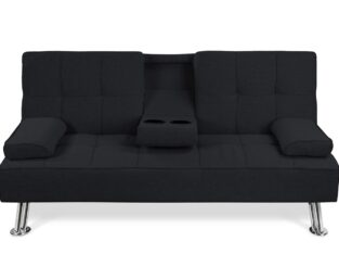 Modern Convertible Folding Futon Sofa Bed for Com