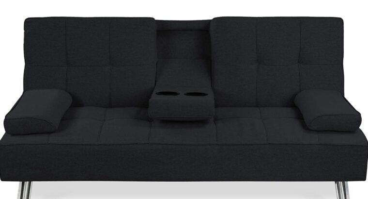 Modern Convertible Folding Futon Sofa Bed for Com