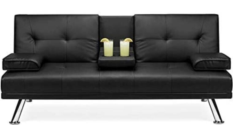 Best Choice Products Faux Leather Upholstered Mode