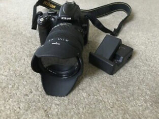 Nikon D D5000 12.3MP Digital SLR Camera with Sigma