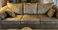 used leather sofa couch approximately 42″ X 90″ an