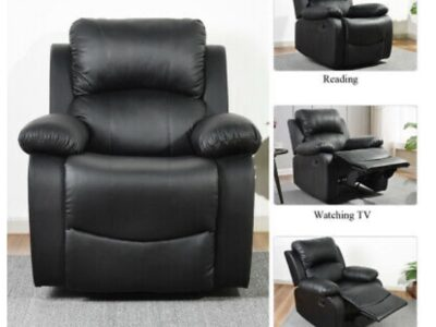 Leather Recliner Chair Single Couch Lounge Theater