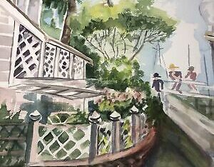 6/9 Original Art Watercolor Painting House JOAN P