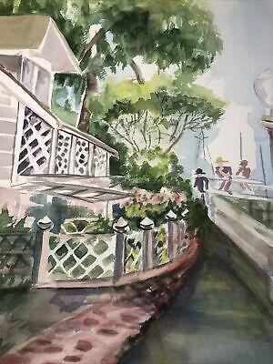 6/9 Original Art Watercolor Painting House JOAN P