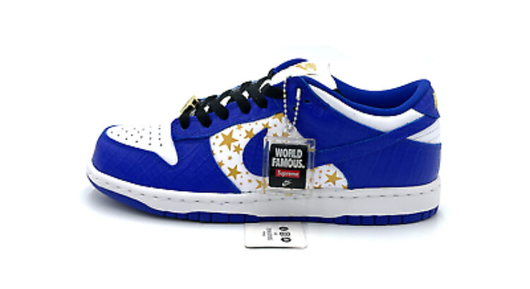 Nike SB Dunk Low Supreme Stars Blue Hyper Royal