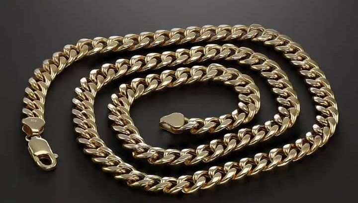9ct Yellow Gold Italian Made Cuban Chain